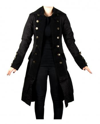 Damen Piratenmantel Schwarz