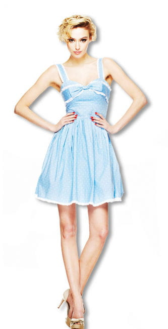 Dot dress with bow