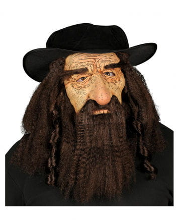 Rabbi mask with hat
