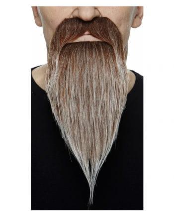 Räuber Bart braun grau meliert