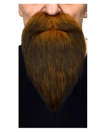 Räuber Bart braun schwarz meliert