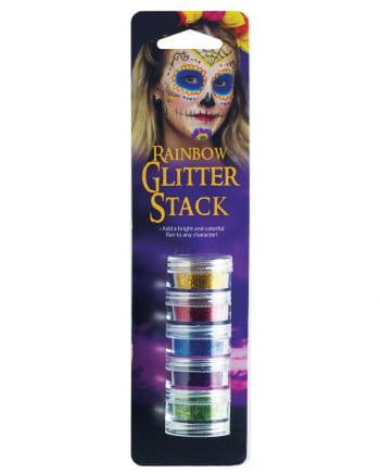 Regenbogen Glitzer Make-Up Set