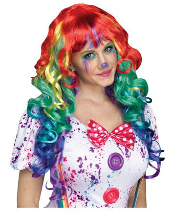 Rainbow Curling Wig