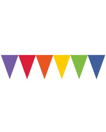 Regenbogen Wimpel Girlande 450cm