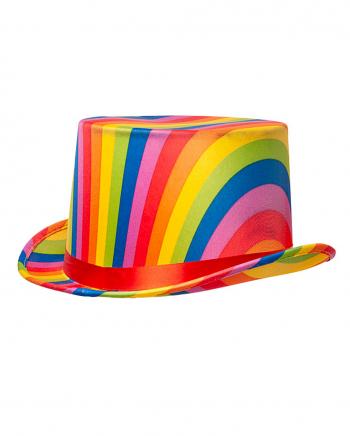 Regenbogen Zylinder mit Hutband