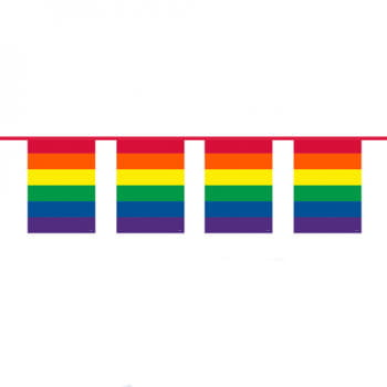 Rainbow flags garland