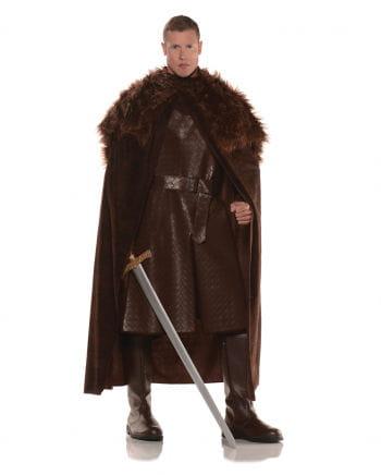 Renaissance cape with faux fur brown