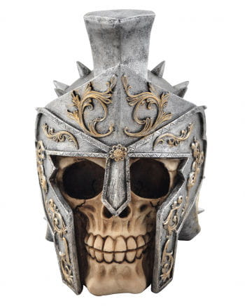 Skull with gladiator helmet