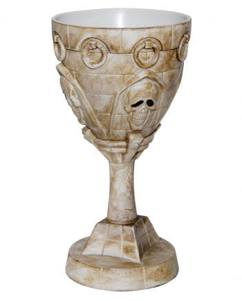 Romanesque skull cup