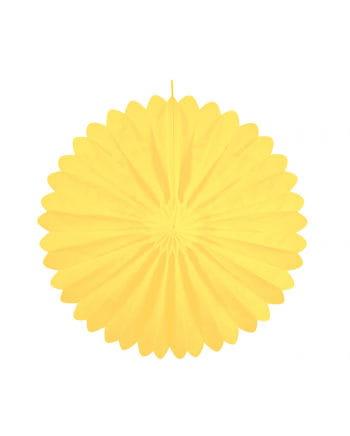 Rosettenfächer gelb 35 cm