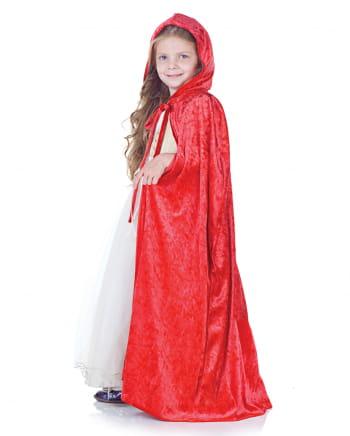Roter Kapuzenumhang für Kinder