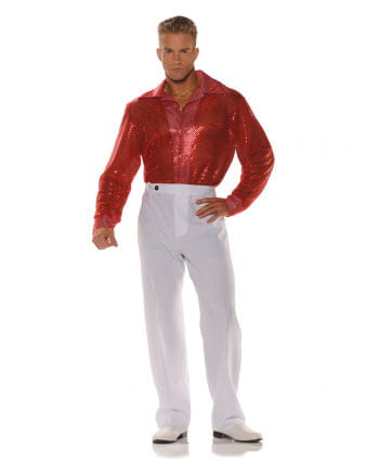 Sequined shirt red