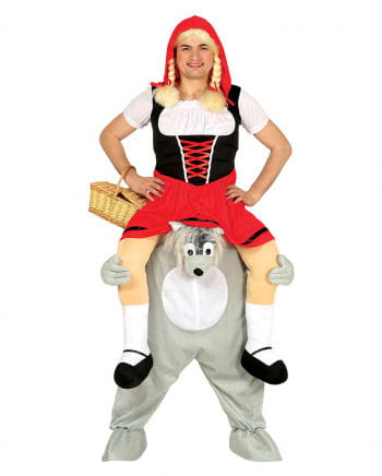 Little Red Riding Hood On Wolf Carry Me Costume