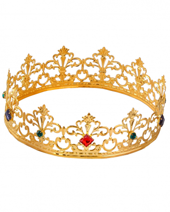Royale Königskrone mit bunten Schmucksteinen
