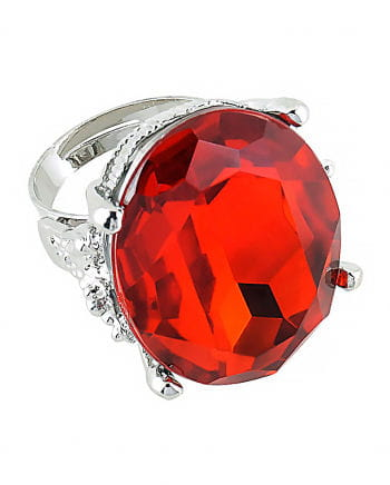 Round Ring With Ruby red Gemstone