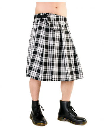 Short Kilt Black Pistol Tartan black / white