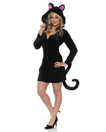 Schwarze Katze Kostüm Kleid für Fasching | Horror-Shop.com