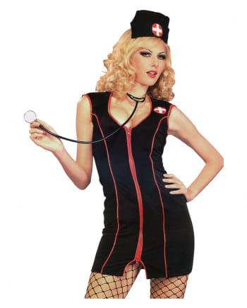 Sexy Black Nurse Kostüm