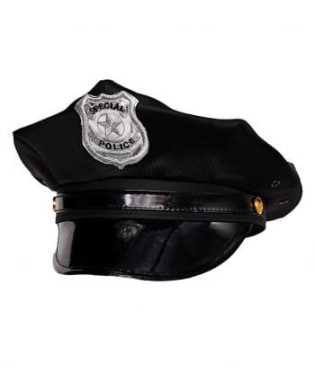Schwarze Polizeimütze Special Police