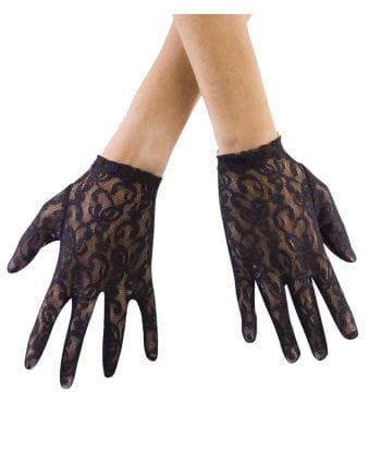 Lace gloves Short black