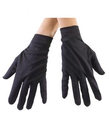 Schwarze Stoff Handschuhe