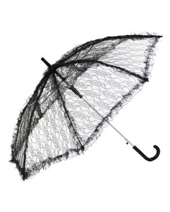 Umbrella With Lace Black