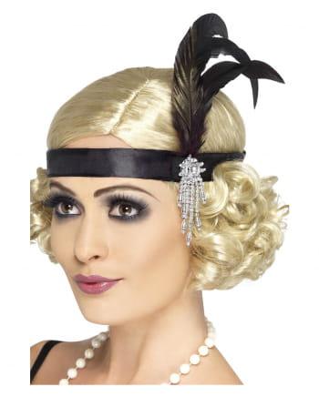 Schwarzes Charleston Stirnband