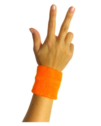 Sweat Wristband Neon Orange