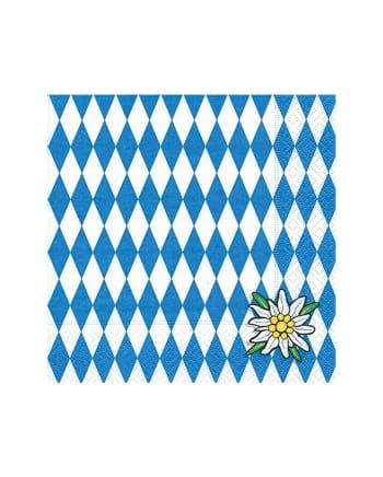 Bayern Serviette mit Edelweiß 20 Stück