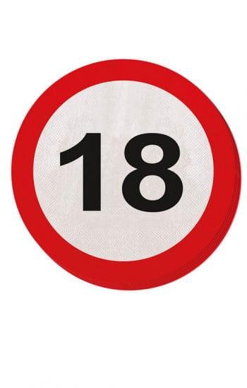 Napkin traffic sign 18