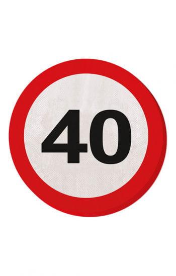 Serviette Verkehrsschild 40