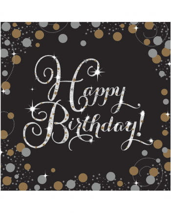 Servietten Happy Birthday Glamor 16 St.