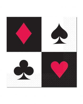 Servietten Pokerspiel 16 St.