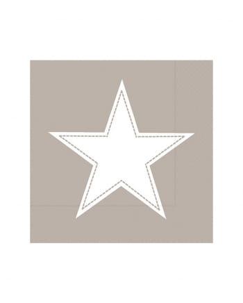 Big Star Napkins Taupe 20 Pieces