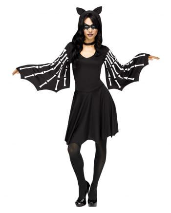 Sexy Fledermaus Skelett Kostüm