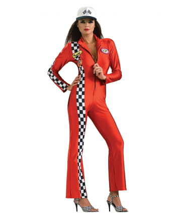 Sexy Rennfahrerin Kostüm rot