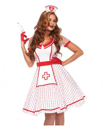 Sexy Vintage Krankenschwester Damenkostüm