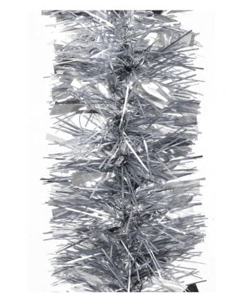 Tinsel garland gloss / matt - silver