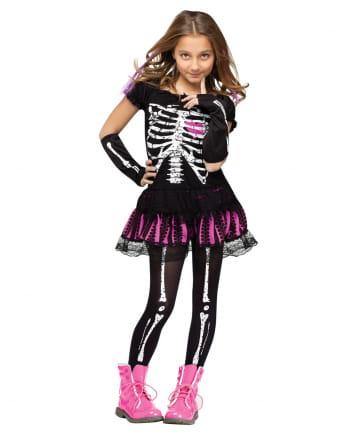 Skelettina Kinderkostüm