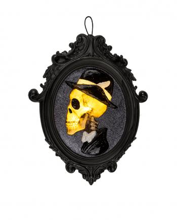 Skelett Gentleman Bilderrahmen mit Beleuchtung