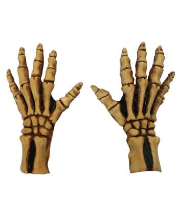 Bone skeleton gloves