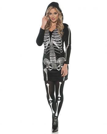 Skeleton Hooded Dress