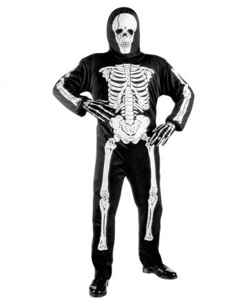 Skelett Kinderkostüm mit Totenkopf Maske