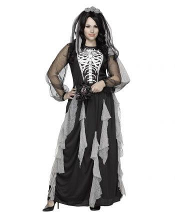 Skeleton Bride Costume PLUS SIZE | XL Oversized Halloween Costumes ...