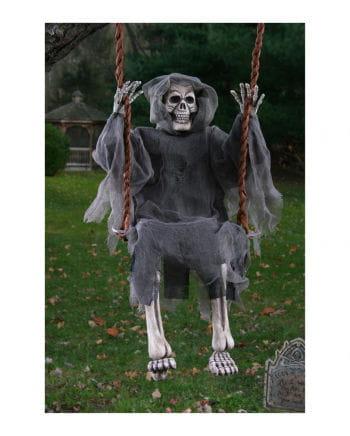 Skelett Geist auf der Schaukel