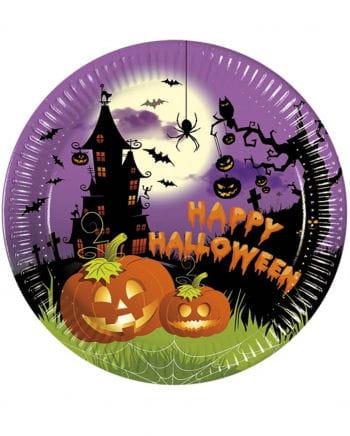 Happy Halloween paper plates 8 St.