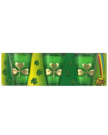 St. Patrick's Day Clover Leaf Shot Glass