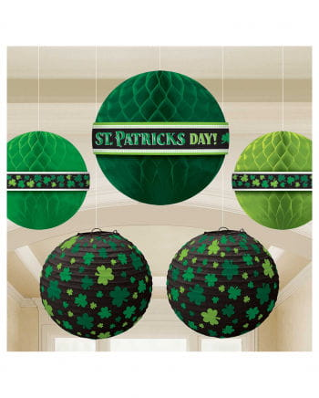 St. Patricks Day Wabenball Deko 5-tlg.