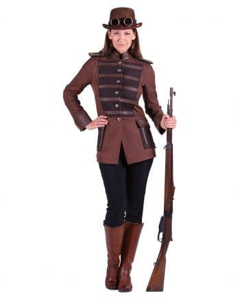 Steampunk ladies jacket brown