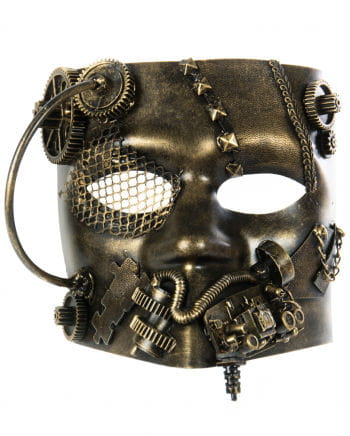 Steampunk Bauta Maske gold